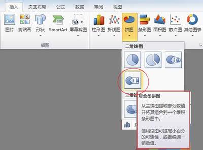 excel2010图文详细教程:复合饼图自制流程_Excel专区